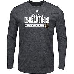 Men's Majestic Boston Bruins Crash Tee
