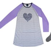 Girls 4-16 Jellifish Raglan Nightgown & Socks Set