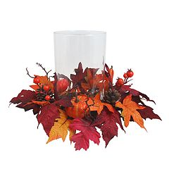 Celebrate Fall Together Artificial Hurricane Candle Holder