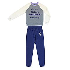 Girls 4-16 Jellifish 2-piece Graphic Pajama Set