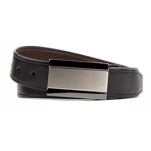 Men's Van Heusen Reversible Two-Tone Plaque-Buckle Modern Flex Stretch Belt