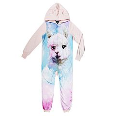 Girls 4-16 Jellifish 3D Animal One Piece Pajamas
