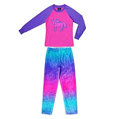 Girls 4-16 Jellifish Top & Fleece Bottoms Pajama Set