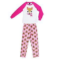 Girls 4-16 Jellifish Top & Fleece Bottoms Pajama Set