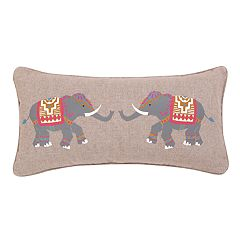 Levtex Licia Elephant Oblong Throw Pillow
