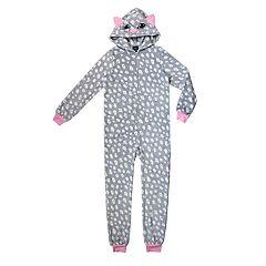 Girls 4-16 Jellifish Fleece Blanket One-Piece Footless Pajamas