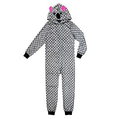 Girls 4-16 Jellifish Fleece Blanket One-Piece Footless Pajamas