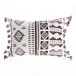 Levtex Home Reno Embroidered Fringe Throw Pillow