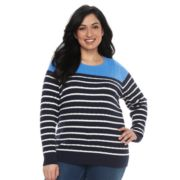 Plus Size Croft & Barrow® Essential Cable-Knit Sweater