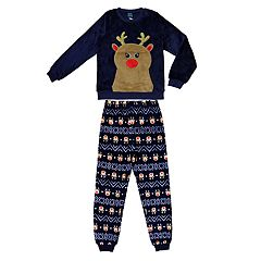 Girls 4-16 Jellifish Fleece Top & Bottoms Pajama Set