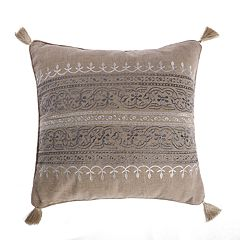 Levtex Reno Embroidered Burlap Throw Pillow