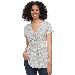 Maternity a:glow Twist Nursing Tee