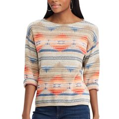Women's Chaps Southwestern Print Boatneck Sweater