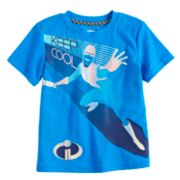 "Disney / Pixar The Incredibles II Toddler Boy Foiled Frozone ""Keep Cool"" Graphic Tee by Jumping Beans®"