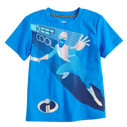 """Disney / Pixar The Incredibles II Toddler Boy Foiled Frozone """"Keep Cool"""" Graphic Tee by Jumping Beans®"""