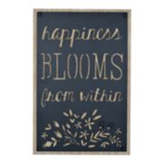 "New View ""Happiness Blooms"" Wall Decor"