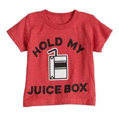 Boys & Girls 4-7x Dad & Me Juice Box Graphic Tee