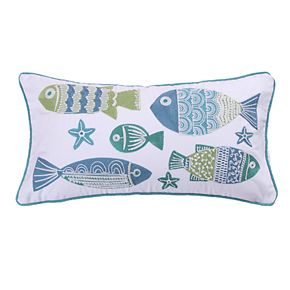 Levtex Camarillo Screenprint Fish Oblong Throw Pillow