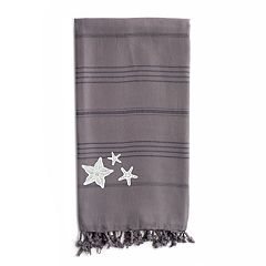 Linum Home Textiles Summer Fun Glittery Starfish Pestemal Beach Towel
