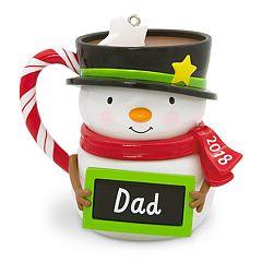 Dad Snowman Mug 2018 Hallmark Keepsake Christmas Ornament