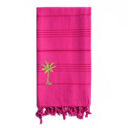 Linum Home Textiles Summer Fun Breezy Palm Tree Pestemal Beach Towel