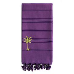 Linum Home Textiles Summer Fun Breezy Palm Tree Pestemal Beach Towel