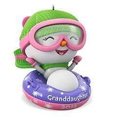 Granddaughter Snowman 2018 Hallmark Keepsake Christmas Ornament