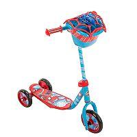 Kids Huffy Marvel Spider-Man 3-Wheel Scooter with Handlebar Bag