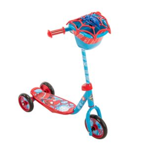 Kids Huffy Marvel Spider-Man 3-Wheel Scooter with Handlebar Bag