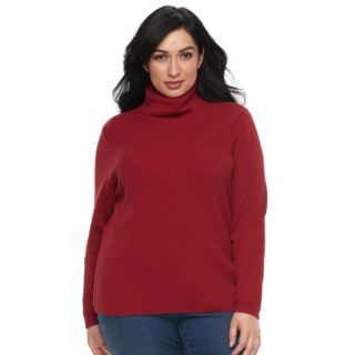 Plus Size Croft & Barrow® Turtleneck Sweater