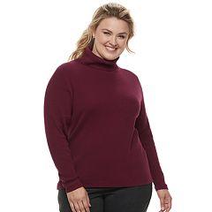 Plus Size Croft & Barrow® Turtleneck Sweater