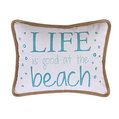 Levtex Nadador Life Is Good Throw Pillow