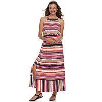 Petite Apt. 9® Strappy Blouson Maxi Dress