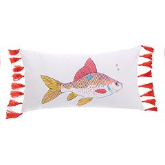 Levtex Nadador Fish Oblong Throw Pillow