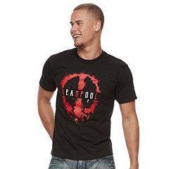 Men's Deadpool Splatter Paint Logo Tee