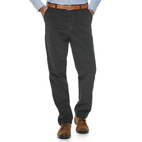Men's Croft & Barrow® Classic-Fit Stretch Flat Front Corduroy Pants