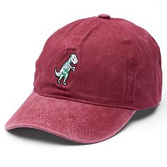 Women's Embroidered Dinosaur Washed Baseball Cap