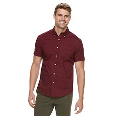 Men's SONOMA Goods for Life™ Modern-Fit Stretch Poplin Button-Down Shirt