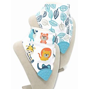 Bazzle Baby 2-pack Teether Bandana Bibs