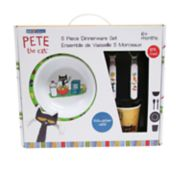 Pete the Cat 5-piece Plate, Bowl, Cup & Utensil Dinnerware Set by Kids Preferred