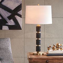 INK+IVY Mrytle Black Marble Table Lamp