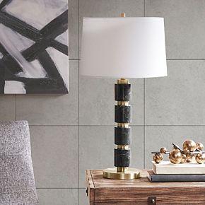 INK+IVY Mrytle Black Marble Table Lamp