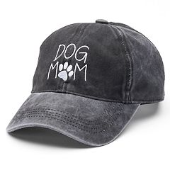 Women's Embroidered 'Dog Mom' Washed Baseball Cap