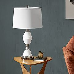 INK+IVY Abbott Geometric Table Lamp