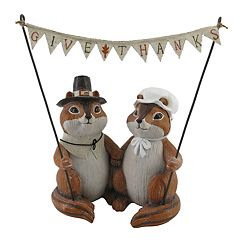 Celebrate Fall Together Thanksgiving Chipmunk Table Decor