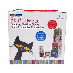 Pete the Cat Stacking Nesting Blocks by Kids Preferred