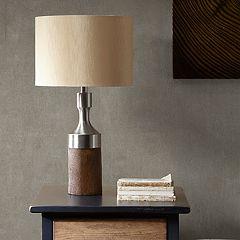 INK+IVY Larkin Faux Wood Table Lamp