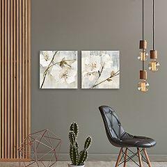 Artissimo Designs Elegance Greige Canvas Wall Art 2-piece Set
