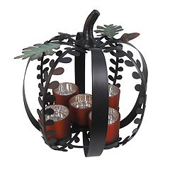 Celebrate Fall Together 5-Light Pumpkin Candle Holder