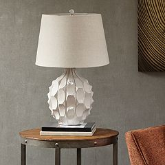 INK+IVY Romona Textured White Table Lamp